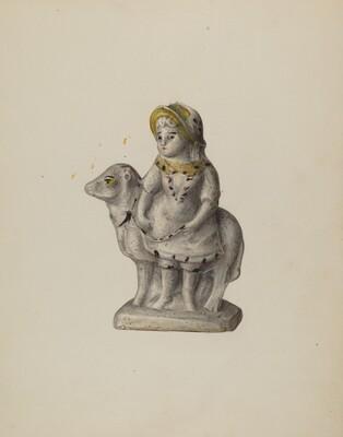 Chalkware Figure