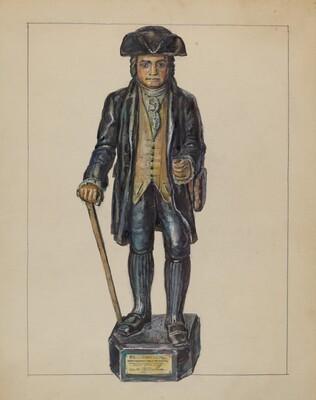 Figure of Knickerbocker