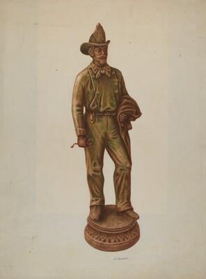 Plaster Cast Figurine