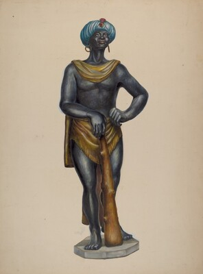 Nubian Slave Figure