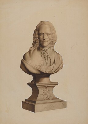 Carved Bust of Voltaire