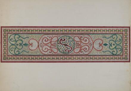 Mosaic Pattern in Doorstep