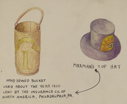 Fireman's Hat and Bucket