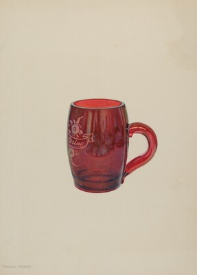 American Bohemian Glass Mug