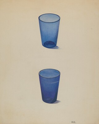 Whiskey Glasses (Cobalt)