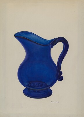 Small Blue Milk Pitcher