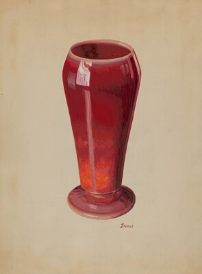 Vase (Red Opaque Glass)