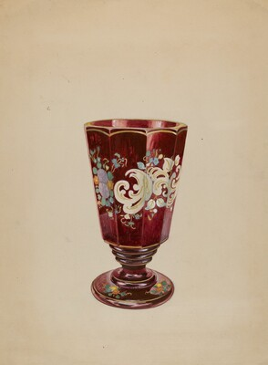 Vase (Ruby Glass)