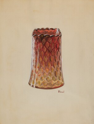 Vase (Amberina)
