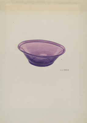 Amethyst Glass Bowl