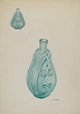 Deep Aquamarine Bottle