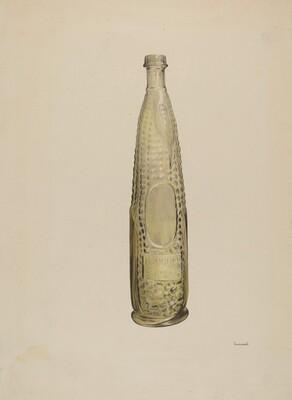 Glass Bitters Bottle