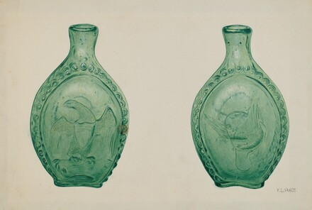 Green Glass Flask