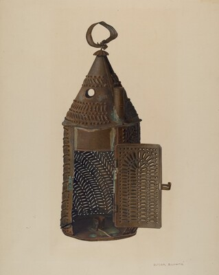 Perforated Tin Lantern