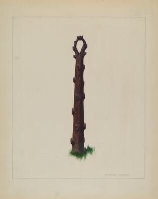 Tree Trunk Hitching Post