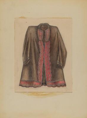Dark Brown Cotton Coat