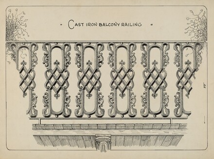 Cast Iron Balcony Rail