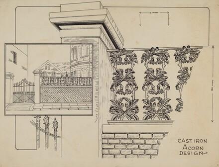 Cast Iron Fence Railing