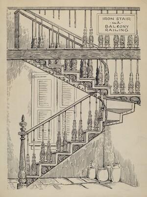Iron Work on Stairway