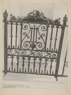 Cast and Wrought Iron Gate