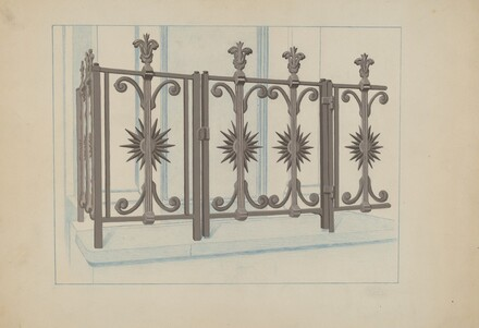 Cast Iron Gate and Fence