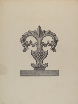 Cast Iron Fence Finial