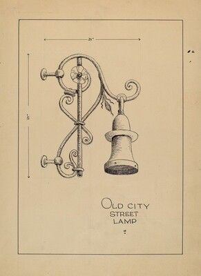 City Gas Light Bracket
