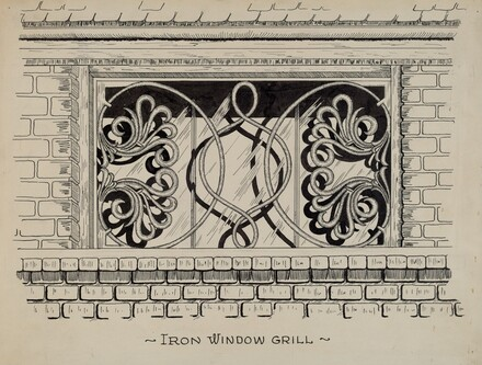 Iron Work in Attic Window