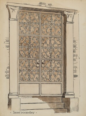Wrought and Cast Iron Doorway
