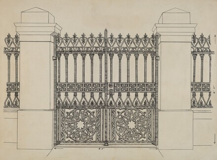 Iron Fence and Gate