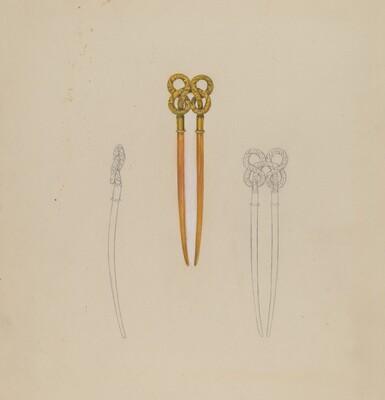 Amber Hairpin