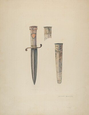 Silver Dagger and Sheath