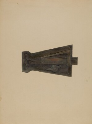 Wrought Iron Latch Lock