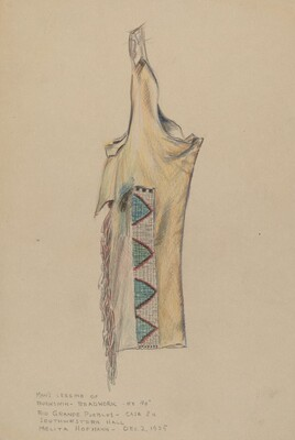Buckskin Legging with Beadwork