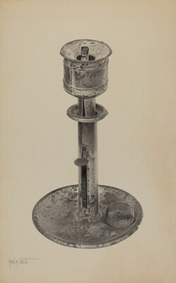 Candlestick/Whale Oil Lamp