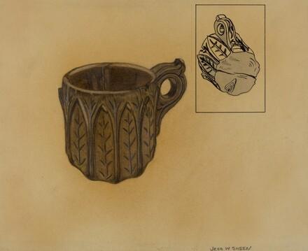 Wooden Shaving Mug