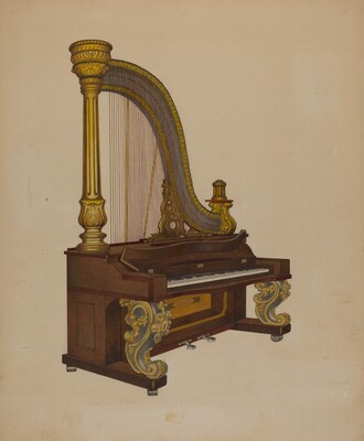 Upright Harp/Piano