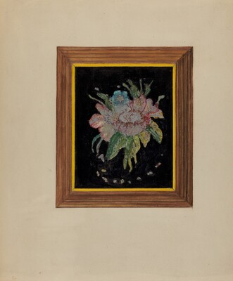 Tin Foil Flower (Painting)
