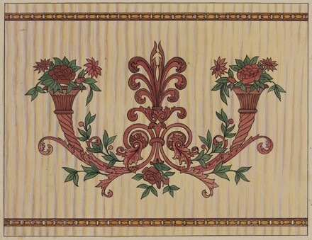 Decorative Panel from Rail Car Interior