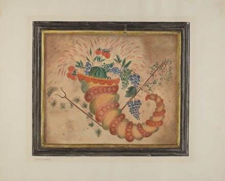 Watercolor: Cornucopia of Fruit