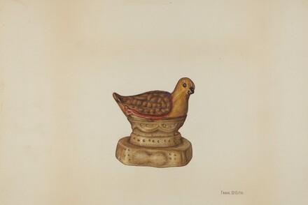 Pa. German Chalkware Chicken