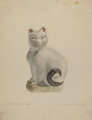 Pa. German Seated Cat