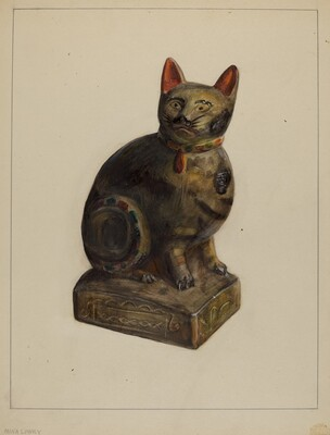 Pa. German Chalkware Cat