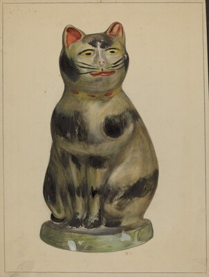 Pa. German Chalkware Cat