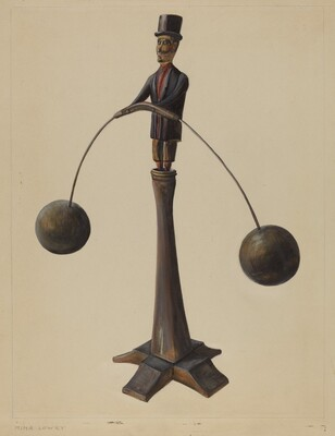Pa. German Balancing Man