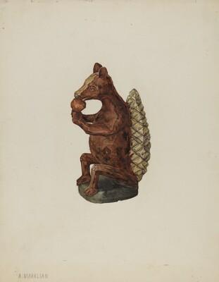 Pa. German Squirrel Figure