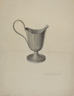 Pewter Cream Pitcher