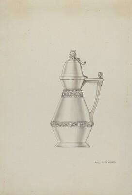 Pewter Syrup Jar
