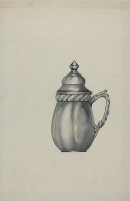 Pewter Honey Jar