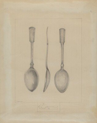 Pewter Spoon